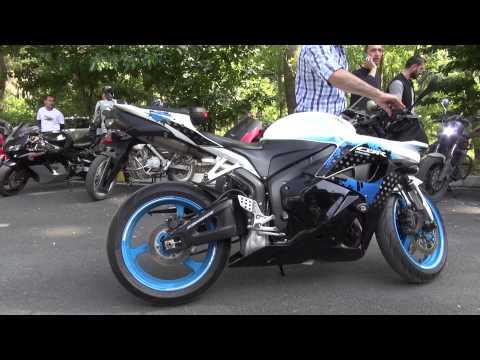 Honda CBR 600RR Akrapovic Exhaust Sound (Full System)