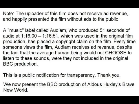 Aldous Huxley Brave New World Movie Youtube