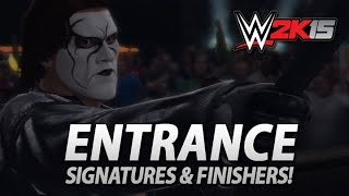 WWE 2K15: Crow Sting Entrance, Signature & Finishers