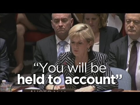 Julie Bishop addresses UN Security Council