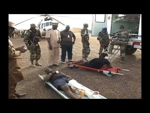 Malian soldiers wounded in combat with rebels return
