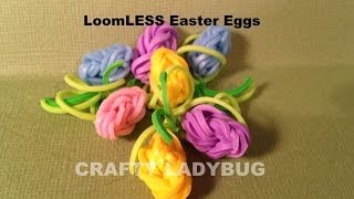 Rainbow LoomLESS EASTER EGG CHARM How To Make By Crafty