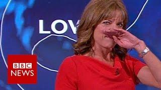 BBC weather presenter giggles through forecast - BBC News