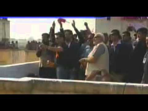 Narendra Modi and Salman Khan fly kites together in Ahmedabad Gujarat