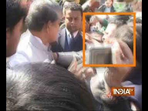 Caught on camera: Uttarakhand Congress leader Harish Rawat slaps party worker