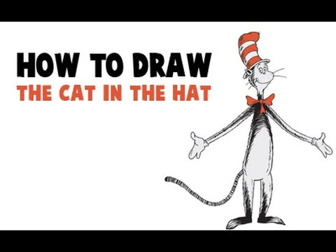 how to draw the cat in the hat from dr seuss viewpure
