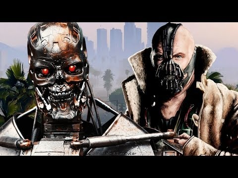 The Terminator and Bane TROLLING in GTA 5