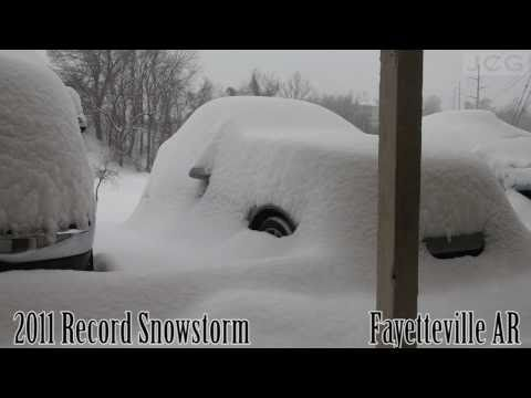 Time Lapse of Record Snow Storm in NW Arkansas, As seen on The Weather Channel TOP 5 and Channel 5 News. Time Lapse from about 3 AM to Noon, Feb 9 2011. NOTICE: This media, in part or whole, may not be use...
