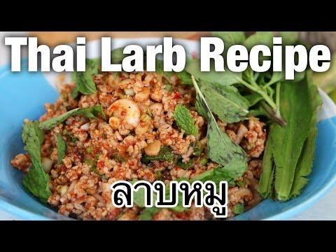 Authentic Thai larb recipe video