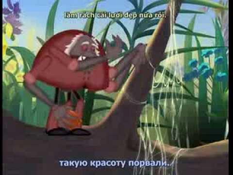 Học tiếng Nga qua phim hoạt hình Лунтик tập 7 Доброе дело
