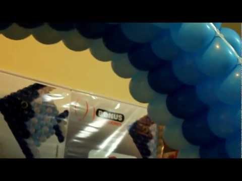 Túnel de Balões feito com as Telas da Bonus = TDB = Tudo de bom.