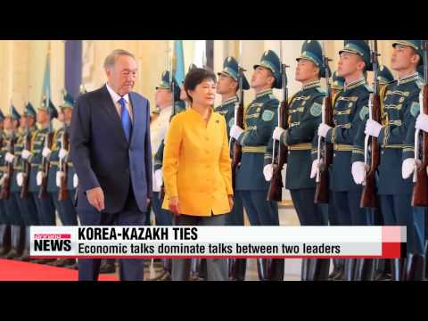Korean, Kazakh leaders discuss economic ties in summit