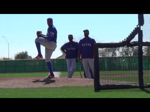 Texas Rangers Neftali Feliz BP video