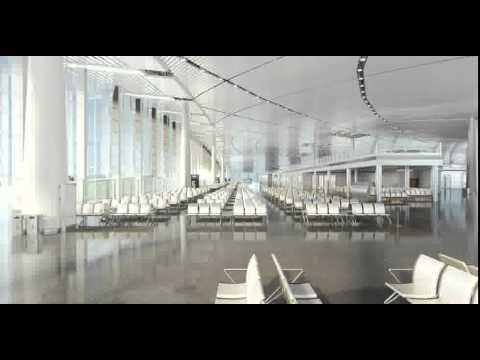 3D Model of Airport Terminal Lobby 001