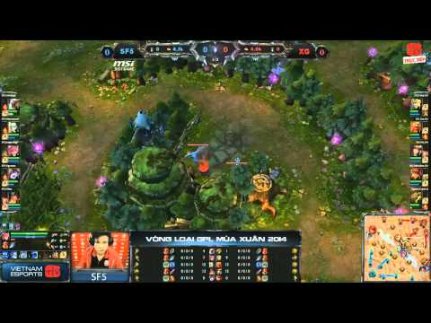 [GPL 2014 Spring] [Bán Kết 1] [Game 1] Saigon Fantastic Five vs Saigon Xgame [04.01.2014]