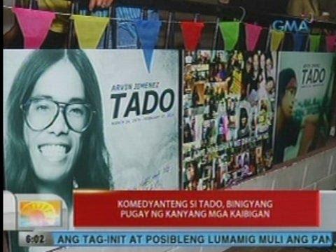 UB: Komedyanteng si Tado, binigyang pugay ng kanyang mga kaibigan