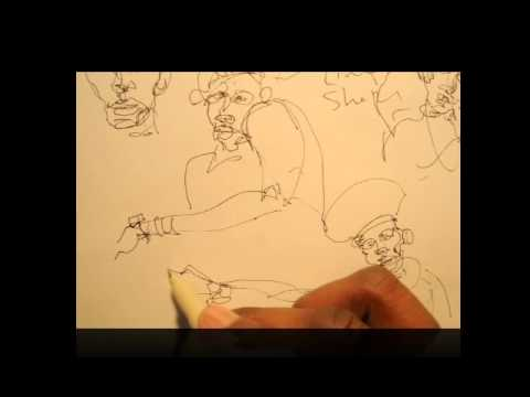 Pen & Ink Tutorial | How to do gesture studies and speed figure drawings