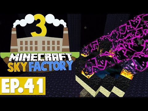 Minecraft Sky Factory 3 - Ender Theft! #41 [Modded Skyblock]