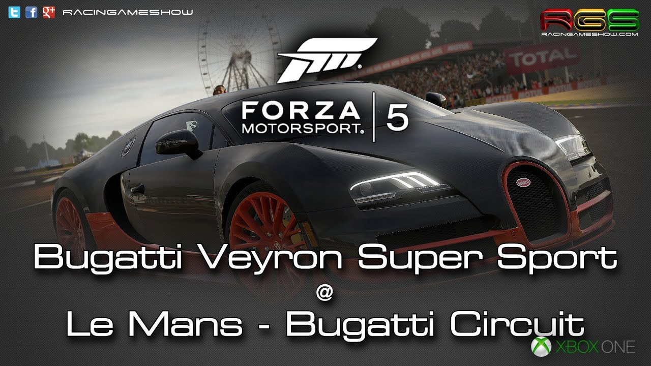 forza motorsport 5 bugatti veyron le mans bugatti circuit cockpit and tv cam youtube. Black Bedroom Furniture Sets. Home Design Ideas