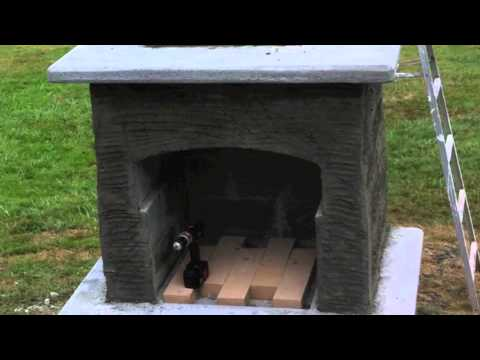How to build an outdoor fireplace and grill before - YouTube