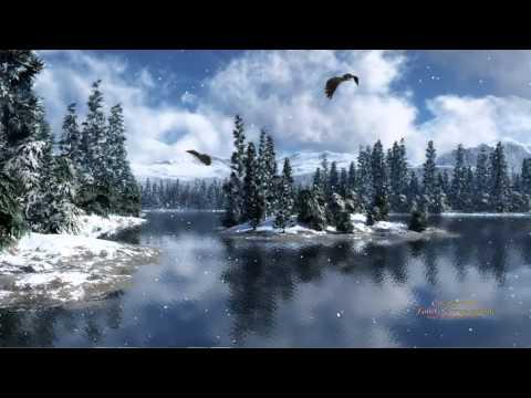 Aigle criard sur le lac