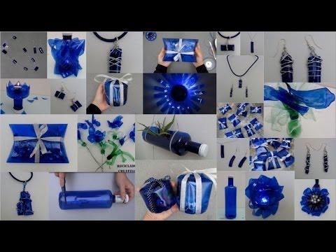 Ideas creativas para reciclar botellas de plástico azules Top 10 ideas recycling plastic bottles
