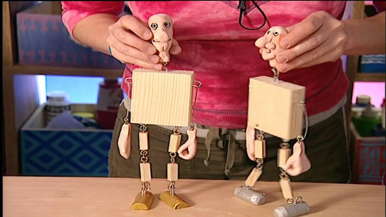Basteln mit kindern marionetten selber bauen youtube - Weihnachtsschmuck selber basteln mit kindern ...