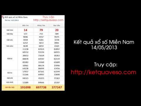 Xổ số Miền Nam ngày 14/05/2013 - ketquaveso.com