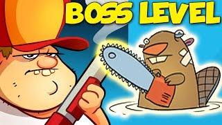 "Swamp Attack - INSANE BOSS LEVEL - Chainsaw Beaver Boss Episode 1 ""Swamp Attack Boss"""