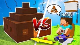 Khi NOOB Xây Nhà Bồn Cầu Sang Chảnh Trong Minecraft