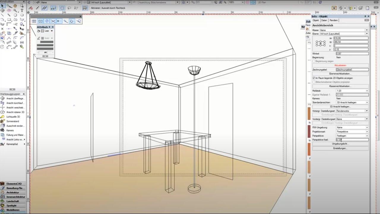 Vectorworks basic 3d zeichenprogramm f r tischler for Zeichenprogramm fur tischler