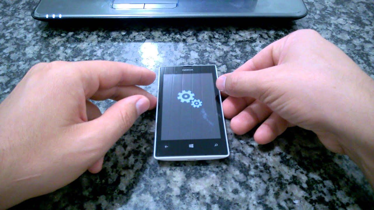 Как сделать сброс телефона люмия 520