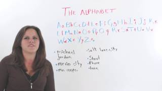 The English Alphabet, English Alphabet Pronunciation Practice