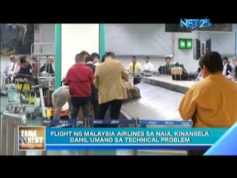 Malaysia Airlines' cancelled flight in Manila due to technical problems