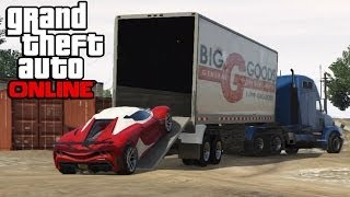 GTA 5 Online Hauling Cars In Semi Trucks ! How To