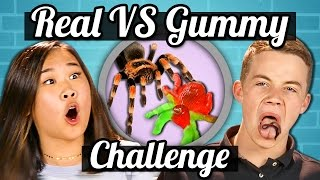 TEENS vs GUMMY FOOD vs REAL FOOD CHALLENGE!!! | Teens Vs. Food