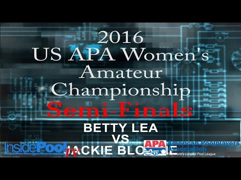 2016 U S  APA Womens Amateur Championship Betty Lea vs Jackie Blomlie