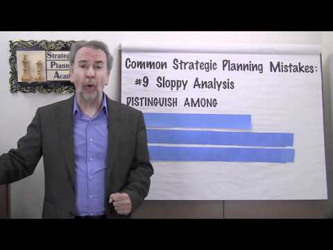 Strategic Planning Mistakes #9 - Sloppy Analysis - Project Management Video