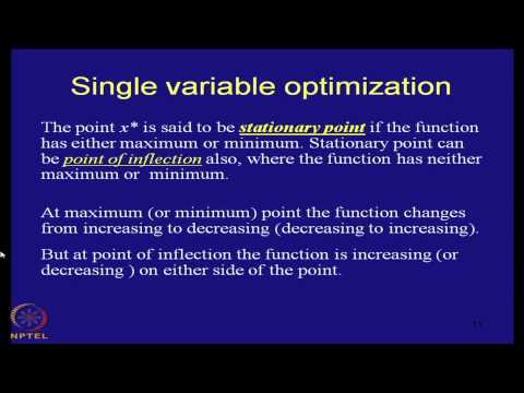 Mod-01 Lec-21 Classical optimization techniques : Single variable optimization