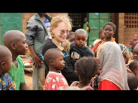 Mia Farrow in Central African Republic: