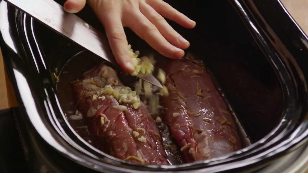 How to Make Pork Tenderloin in a Slow-Cooker - YouTube