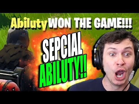 FORTNITE - SPECIAL ABILUTY!!!