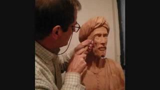 Escultura en madera - Anciano con turbante