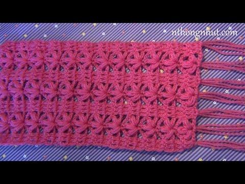 Dạy móc khăn len đơn giản