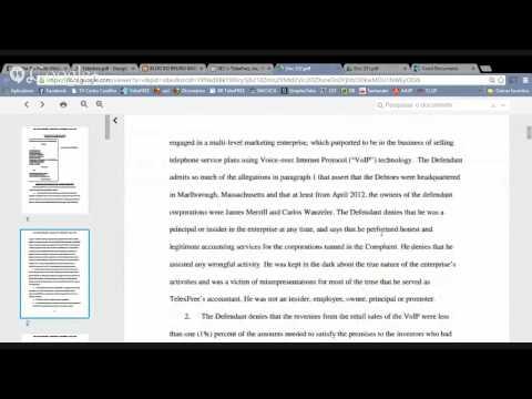 Notícias TelexFREE 08/08/2014 - Declarações Joseph H. Craft (C.F.O) e Decisão Justiça Federal ES