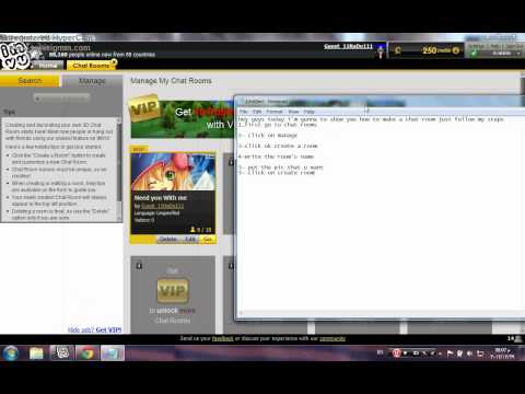 how to create a chat room on imvu,