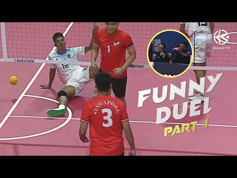 Funny Sepaktakraw Duel   Part 1  30th Sea Games  HD