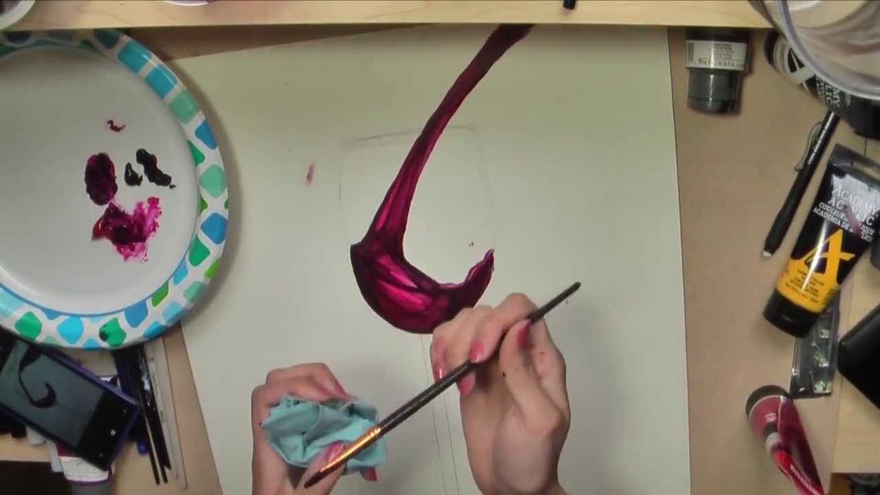 How to paint a wine glass in acrylic artist rage youtube for Acrylic paint on wine glasses