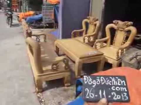 Bộ bàn ghế phòng khách, Chiến quốc Thọ đào, gỗ gụ, cột 12, đồ gỗ đức hiền