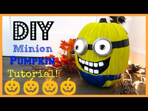 DIY Minion Pumpkin!!! | MissJenFABULOUS
